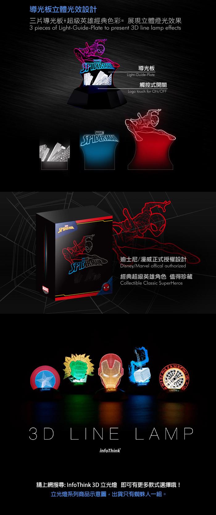 InfoThink|蜘蛛人3D立光燈