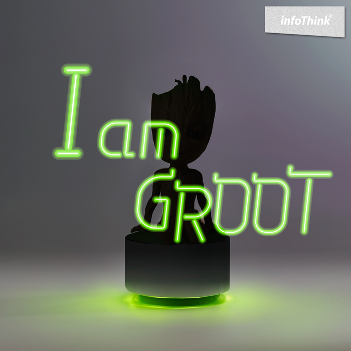 InfoThink|星際異攻隊 GROOT系列玩音樂藍牙燈光喇叭