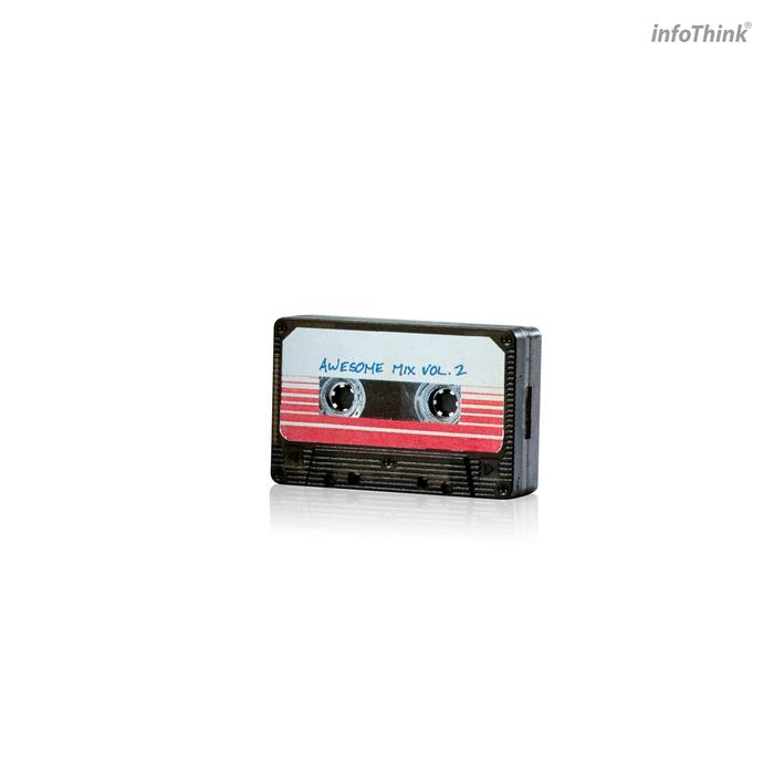InfoThink|星際異攻隊-隨身聽藍牙喇叭+16GB錄音帶隨身碟(勁爆無雙組)