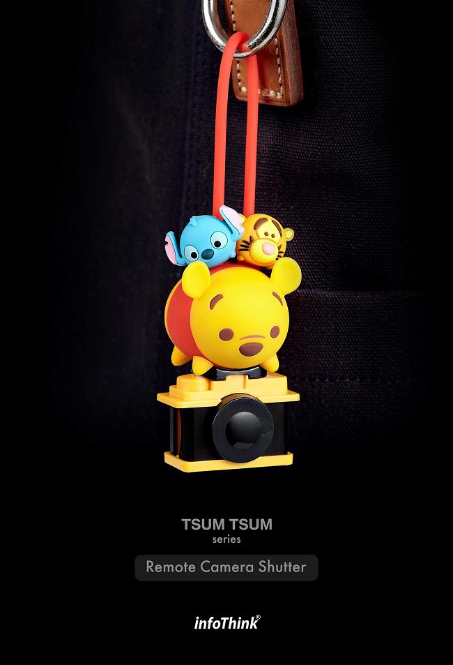 InfoThink|TSUM TSUM藍牙遙控自拍器-小熊維尼