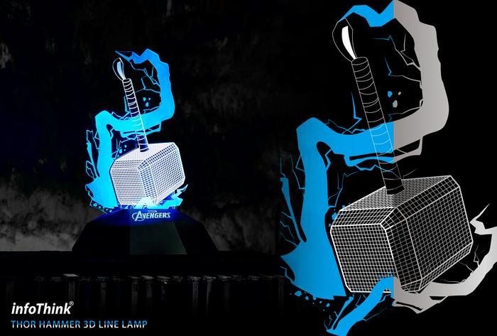 InfoThink|雷神鎚3D立光燈