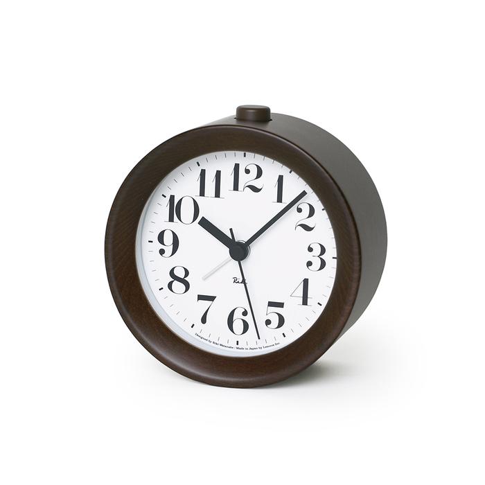 (複製)Lemnos|渡邊力圓型小鬧鐘-原木色