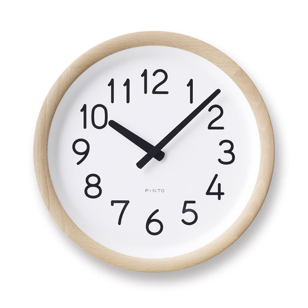 Lemnos 美好的一天時鐘-原木