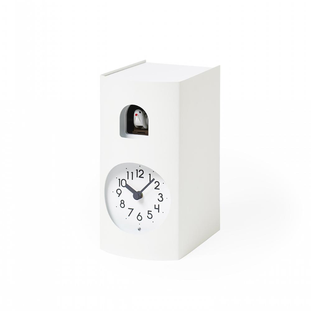 Lemnos 布穀鳥桌鐘-白色