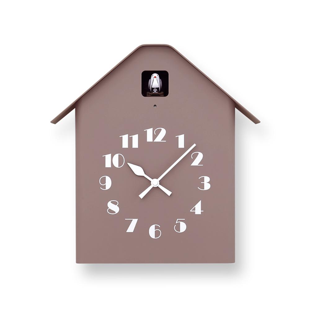 Lemnos|房型布穀鳥時鐘-褐色