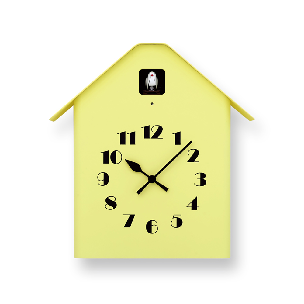 Lemnos|房型布穀鳥時鐘-黃色