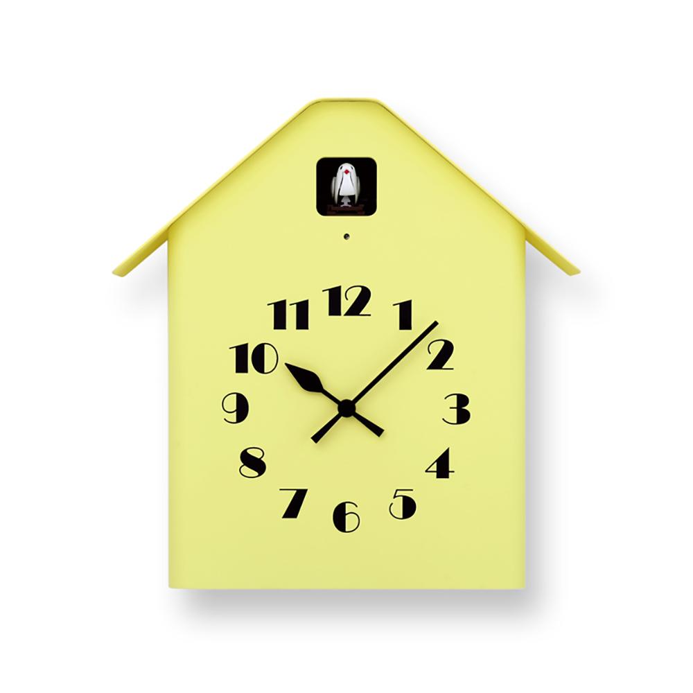Lemnos 房型布穀鳥時鐘-黃色