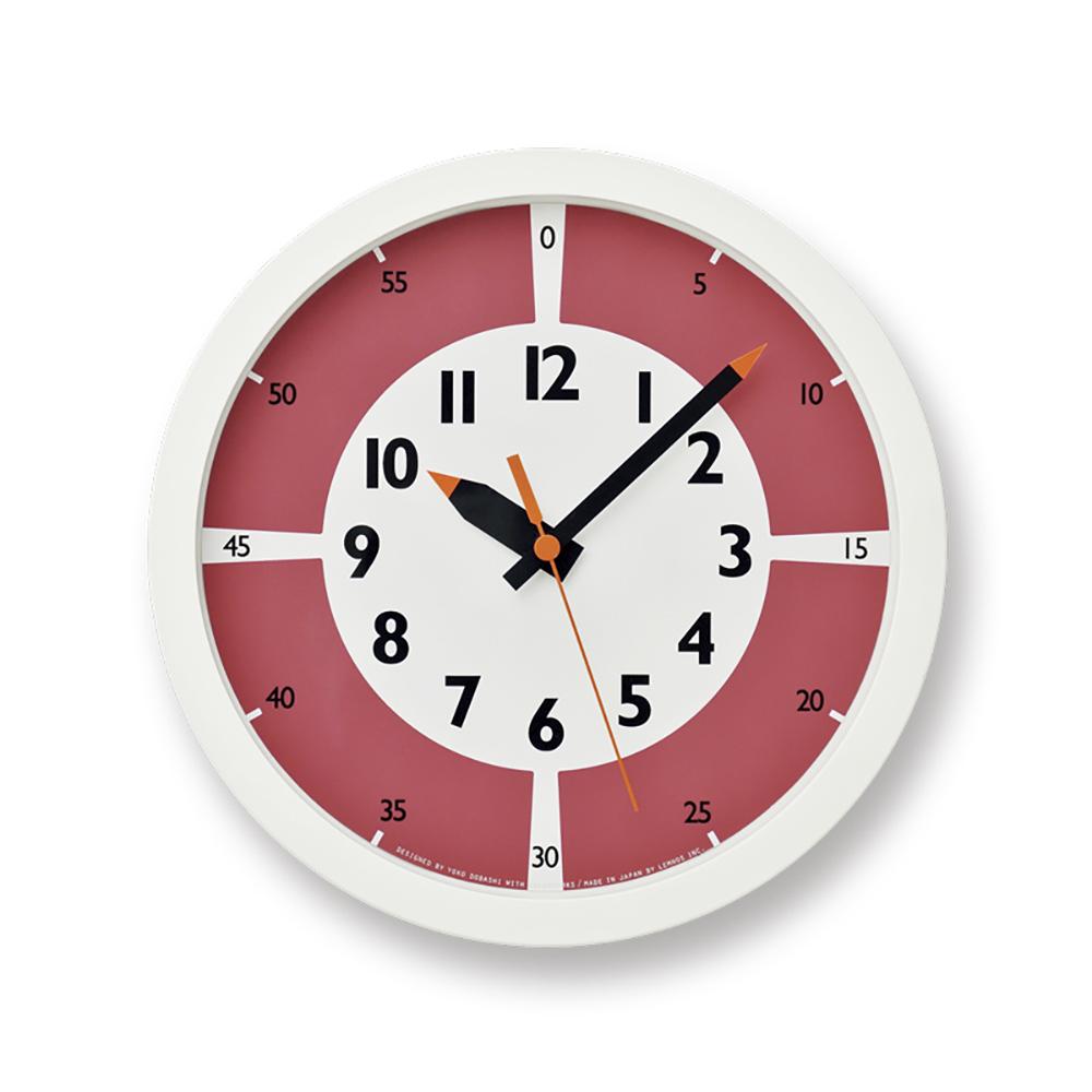 Lemnos|彩色分分學習時鐘-紅色