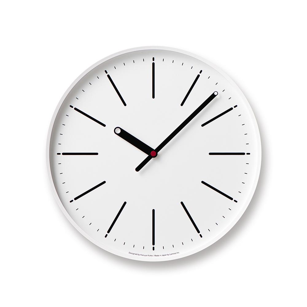 Lemnos|點針時鐘線條款-白色