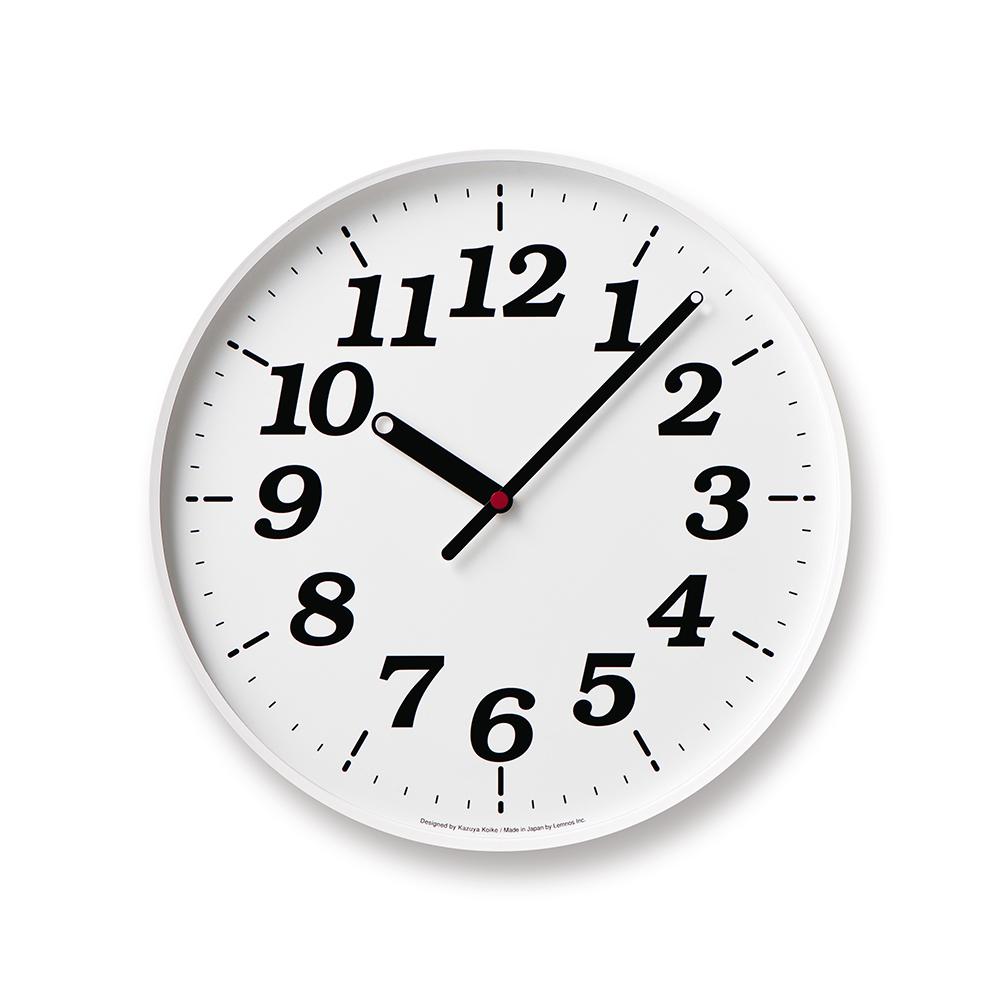 Lemnos 點針時鐘數字款-白色