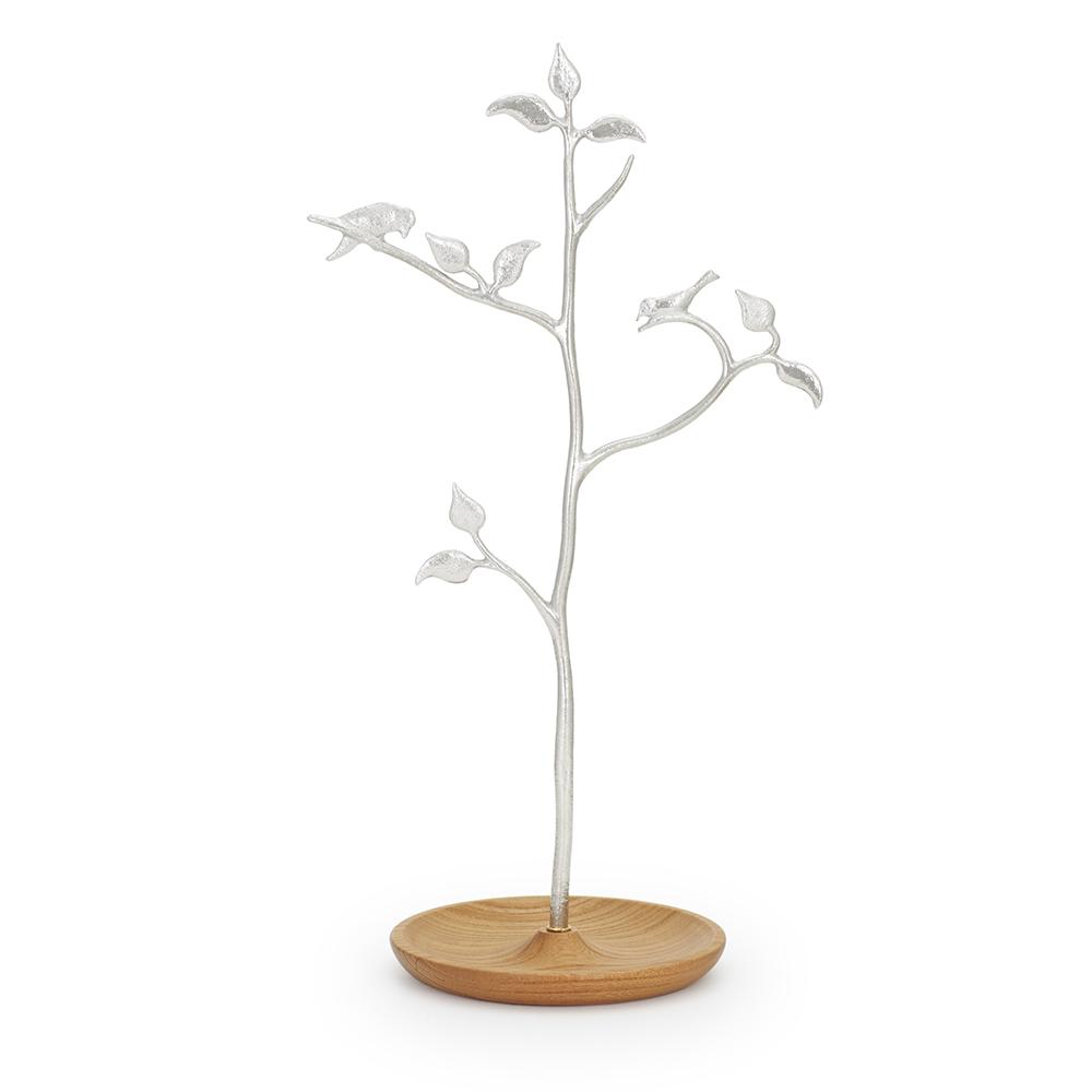 Lemnos|SHIROKANE 小鳥飾品架-原木色