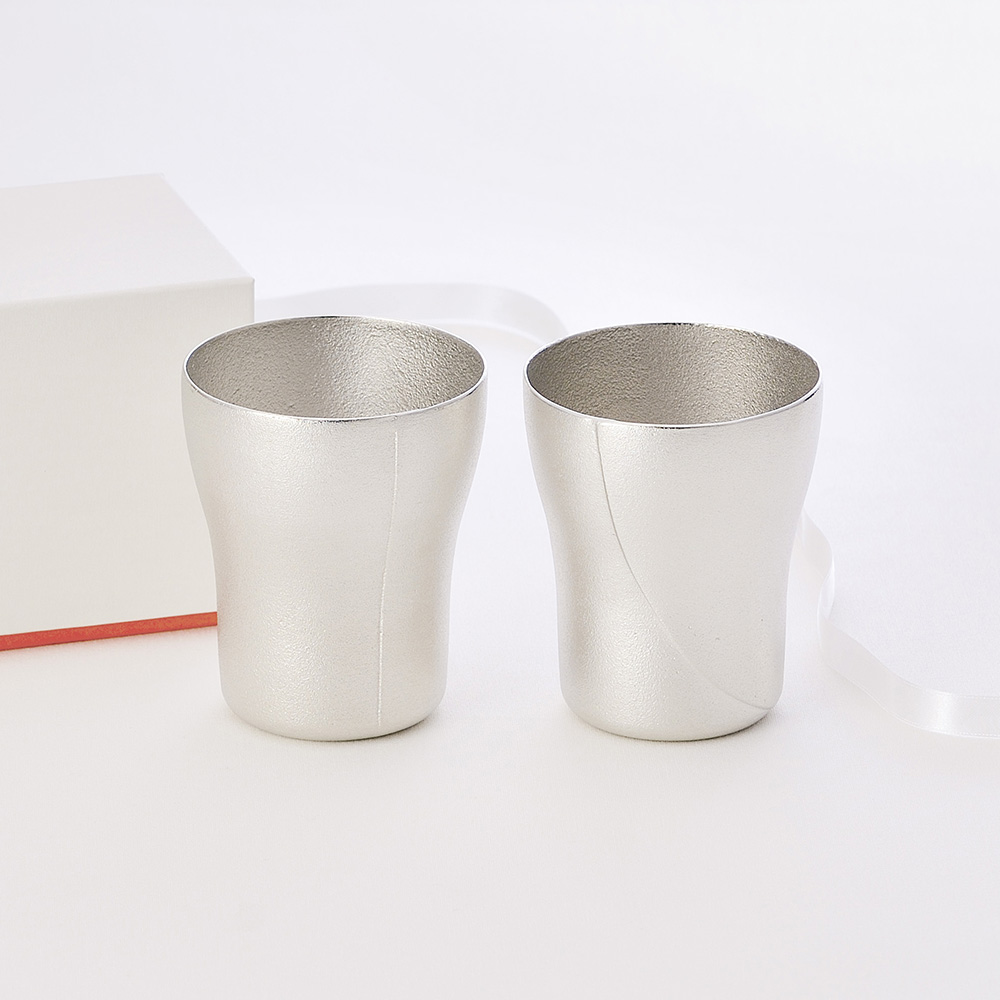 Lemnos|SHIROKANE 錫製國王女王啤酒杯套組-380ml(二入一組)
