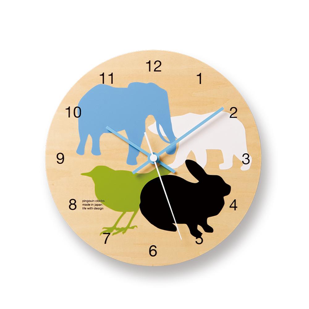 Lemnos 摩登動物圓形時鐘-大集合