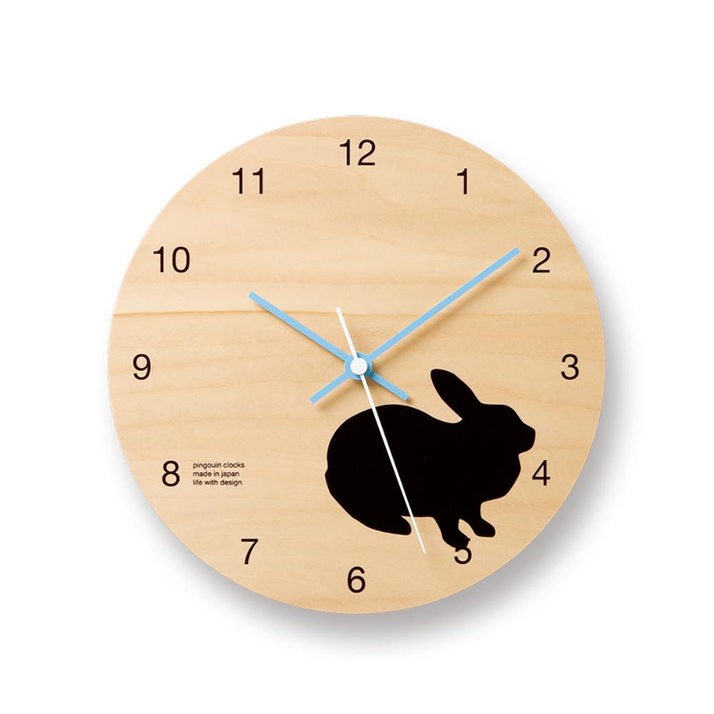 Lemnos|摩登動物圓形時鐘-兔子