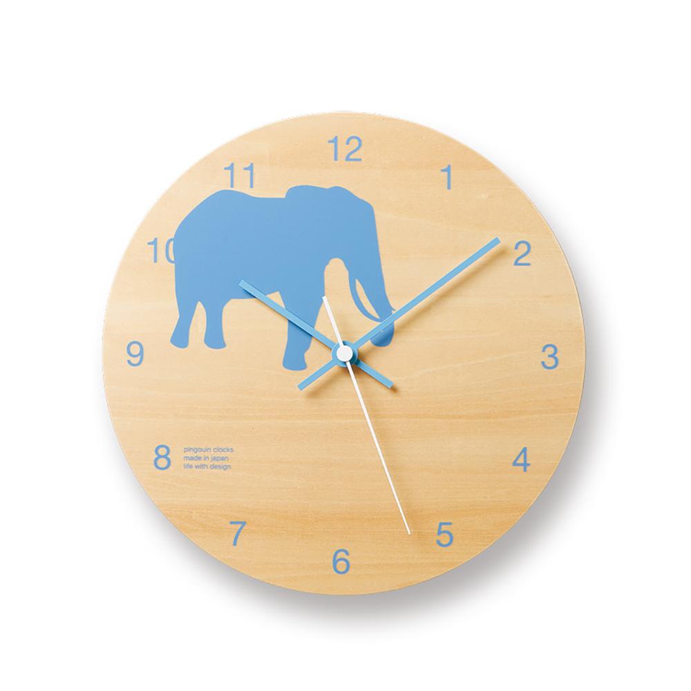 Lemnos 摩登動物圓形時鐘-大象