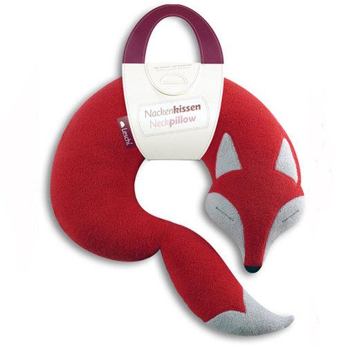 德國萊思綺Leschi|旅行枕頭/辦公室,教室午休枕頭(狐狸造型-紅色)