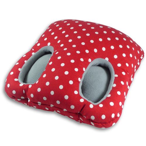 德國萊思綺Leschi 保暖腳踏墊(紅白點)