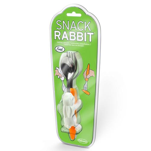 Fred & Friends | Snack Rabit  蘿蔔兔造型兒童餐具二件組(叉子+勺子)
