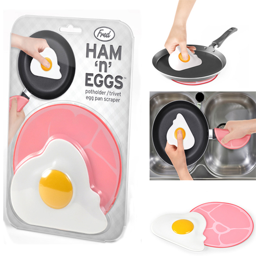 Fred & Friends | Ham n Eggs 火腿蛋造型隔熱墊