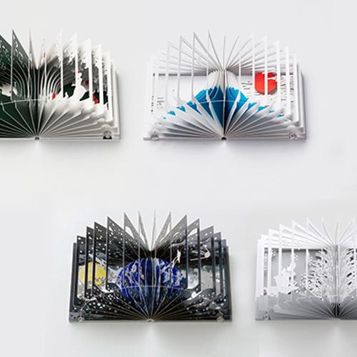 【集購】日本設計 青幻舎 | 360° 立體書(富士山、雪世界、漫遊太空之旅、白雪公主)