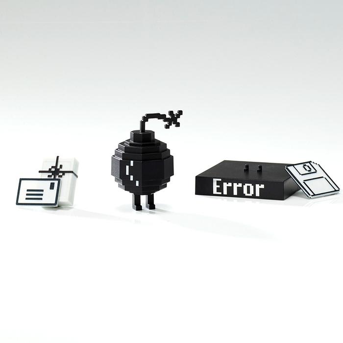 【兩入組預購】 Playsometoys | 經典電腦機器人與垃圾桶&小伙伴公仔組