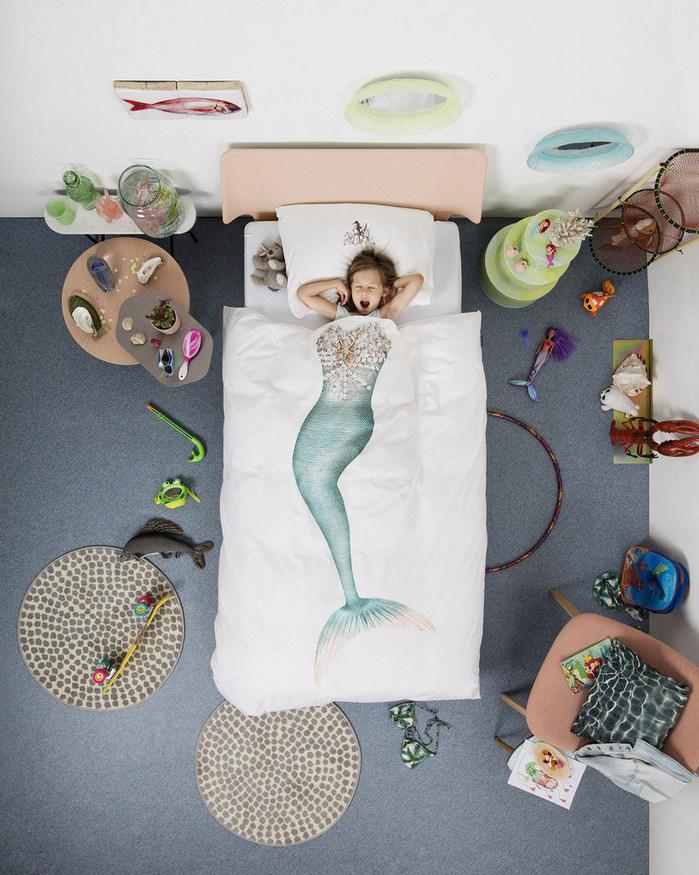 【預購】SNURK|夢幻公主系列-小美人魚 枕套+被套組