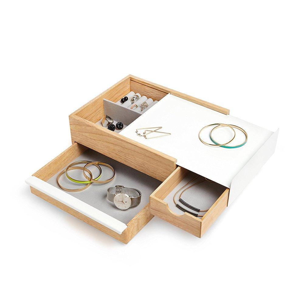 Umbra   STOWIT 木質飾品收納盒-原木色-大
