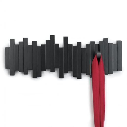 Umbra | STICKS 琴鍵造型牆上掛勾 黑色