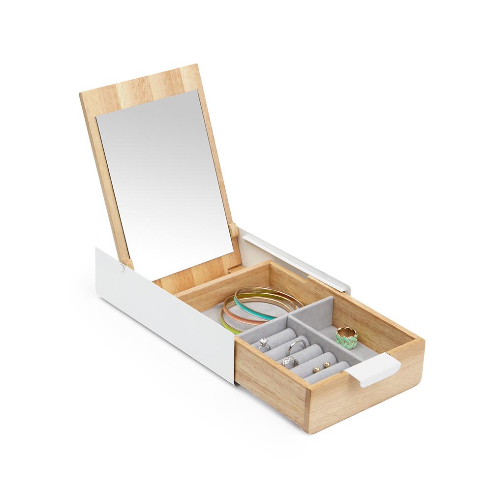 Umbra | REFLEXION 滑蓋飾品收納盒 原木色