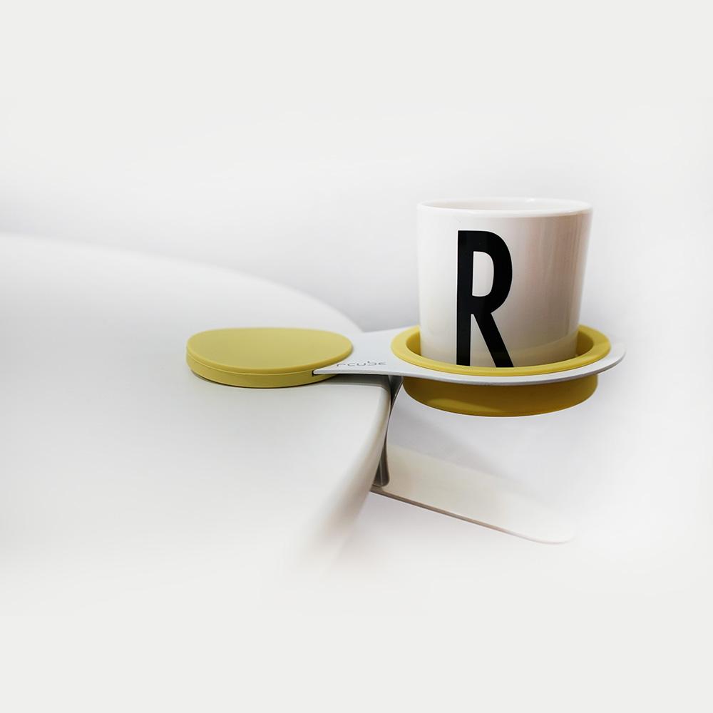 Rcube Design   EX!! 杯子夾  (芥末黃/ 灰/ 紫)