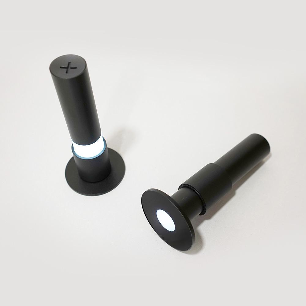 Rcube Design | Kaleido 手電筒夜燈 (黑/ 紅)
