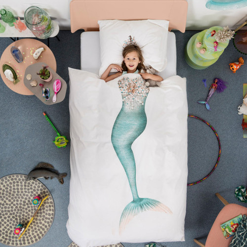 SNURK|夢幻公主系列-小美人魚 枕套+被套組