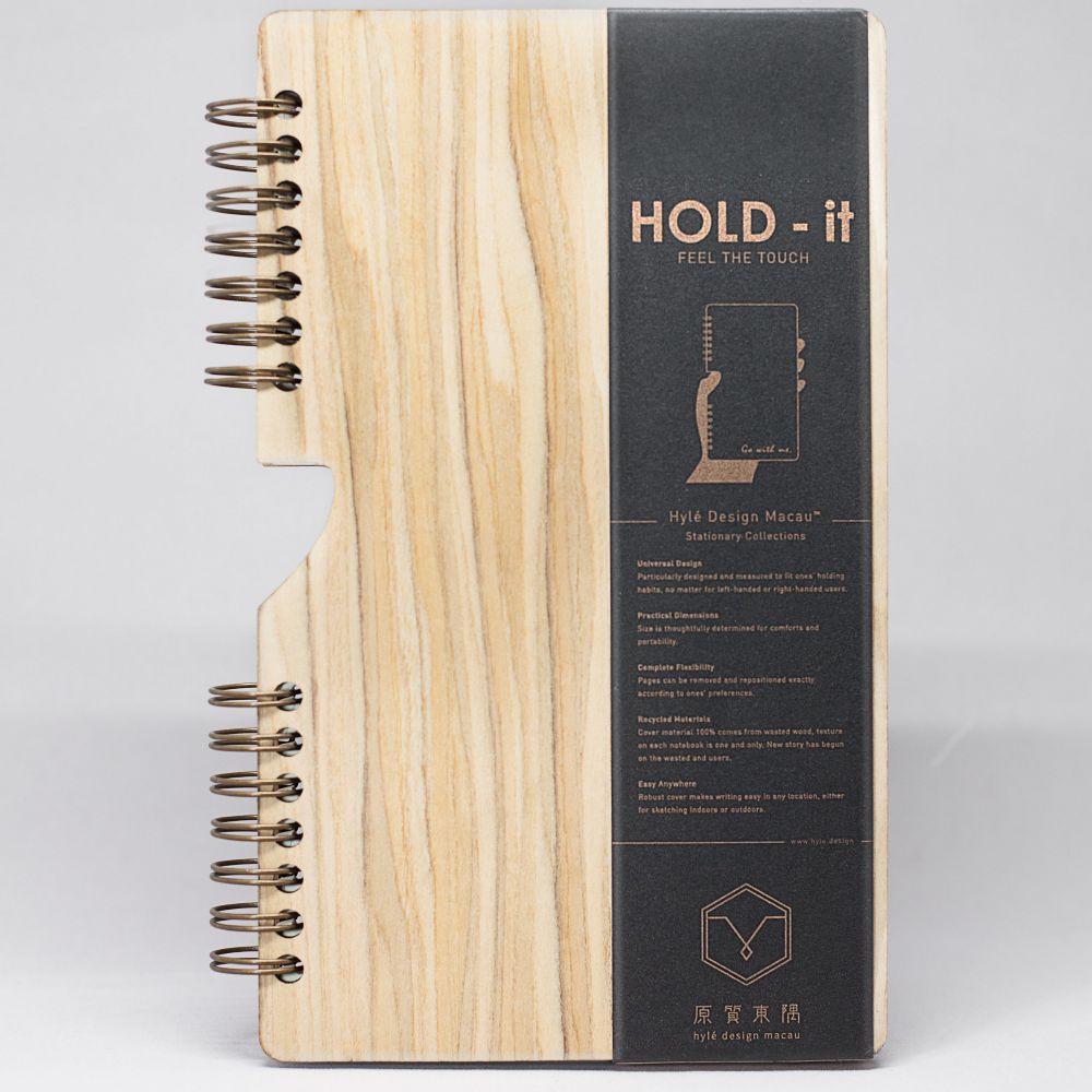 原質東隅 Hylé design | HOLD-it 木封面筆記本 (橄欖木)