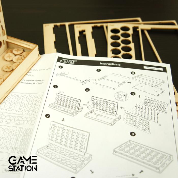 Team Green|3D木拼圖 Game-Station-四子棋