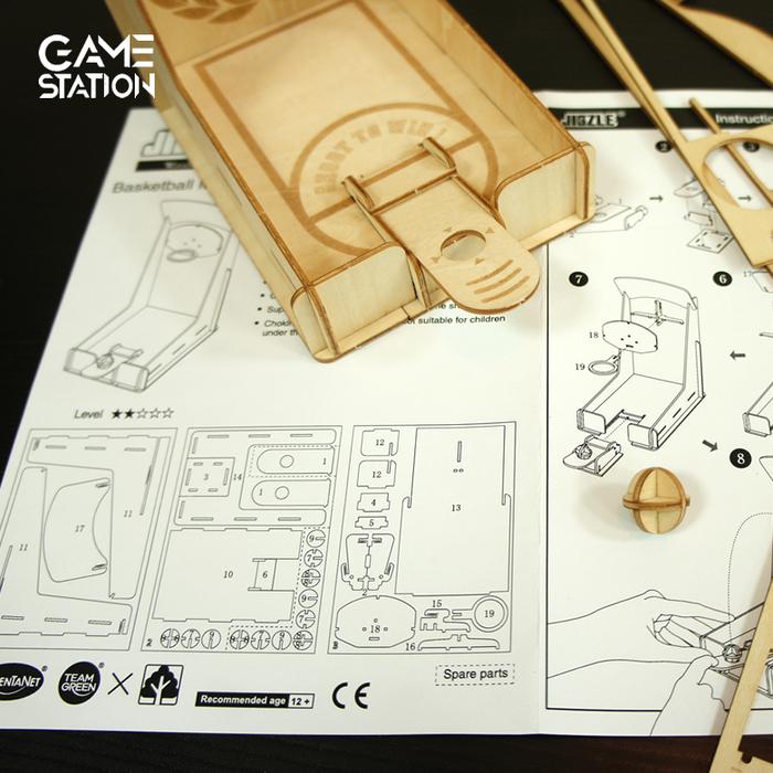 Team Green 3D木拼圖 Game-Station-籃球機