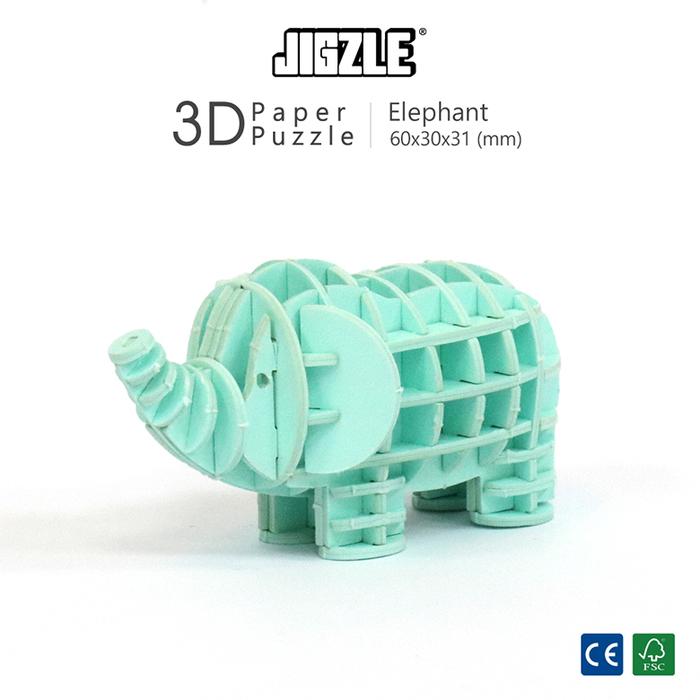 Team Green|3D紙拼圖 大象