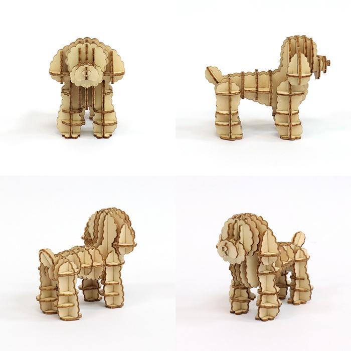 (複製)JIGZLE 3D木拼圖 法國鬥牛犬