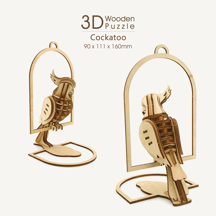 (複製)JIGZLE|3D木拼圖 犀牛