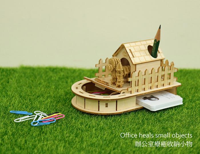 (複製)JIGZLE|3D木拼圖 迷你收納狗屋 + 紙臘腸犬