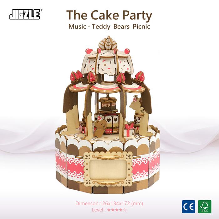 (複製)JIGZLE|3D木拼圖 彩色音樂盒-南瓜車(戒指座)