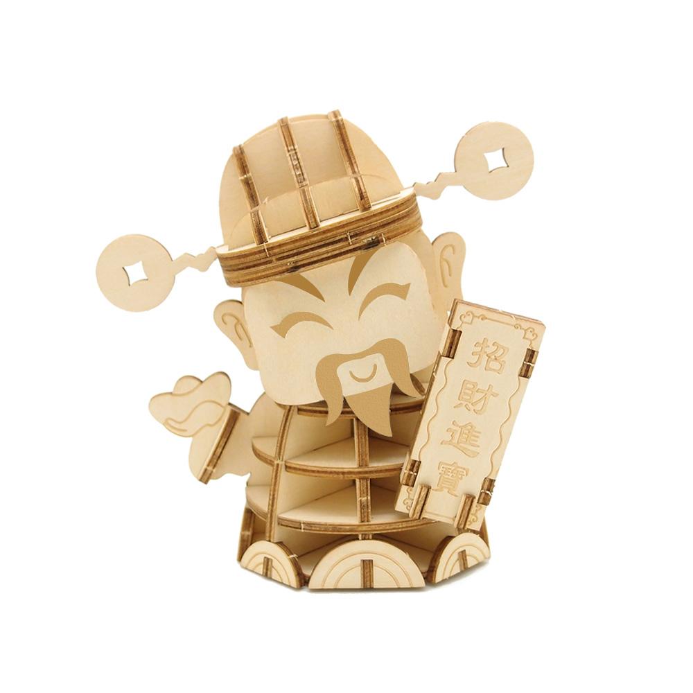 JIGZLE|3D木拼圖 財神爺-(中)