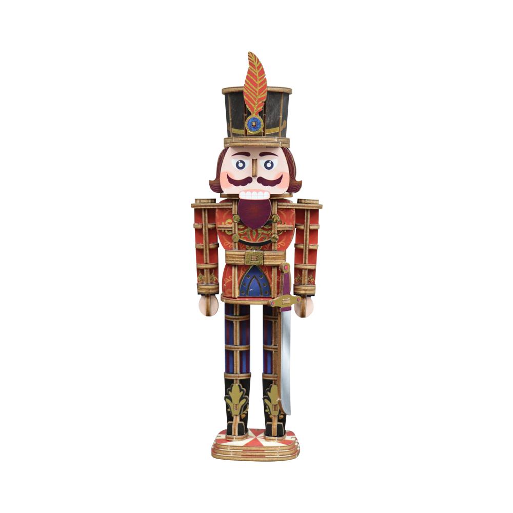 JIGZLE|3D木拼圖 彩色胡桃鉗娃娃