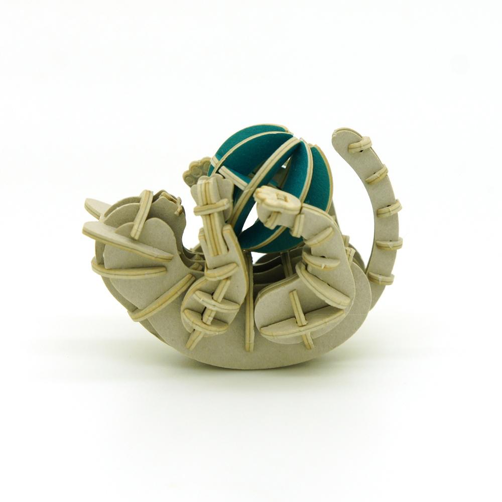 JIGZLE|3D紙拼圖 玩耍的貓