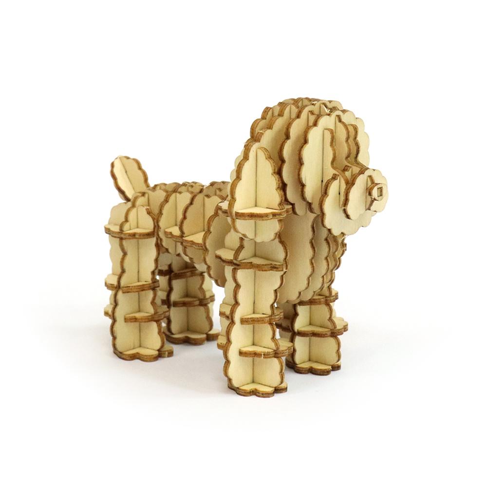 JIGZLE|3D木拼圖 貴賓犬