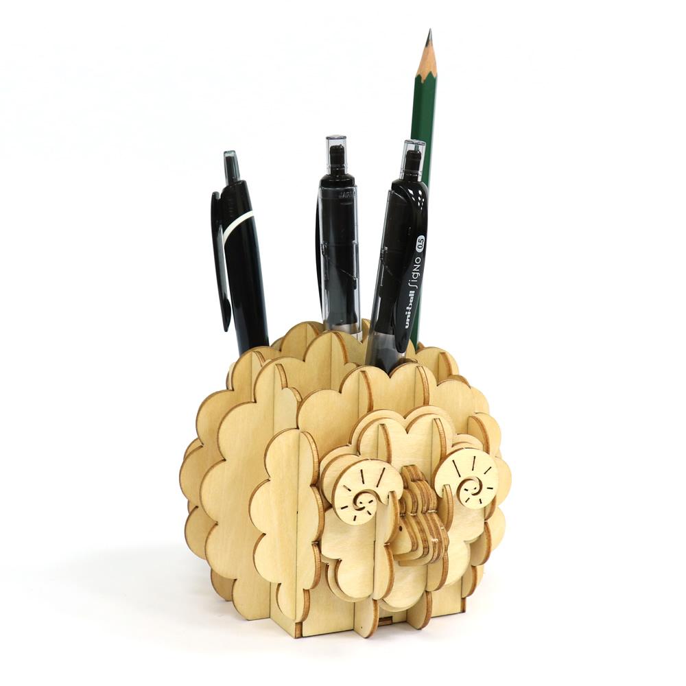 JIGZLE|3D木拼圖 生活收納-綿羊筆筒
