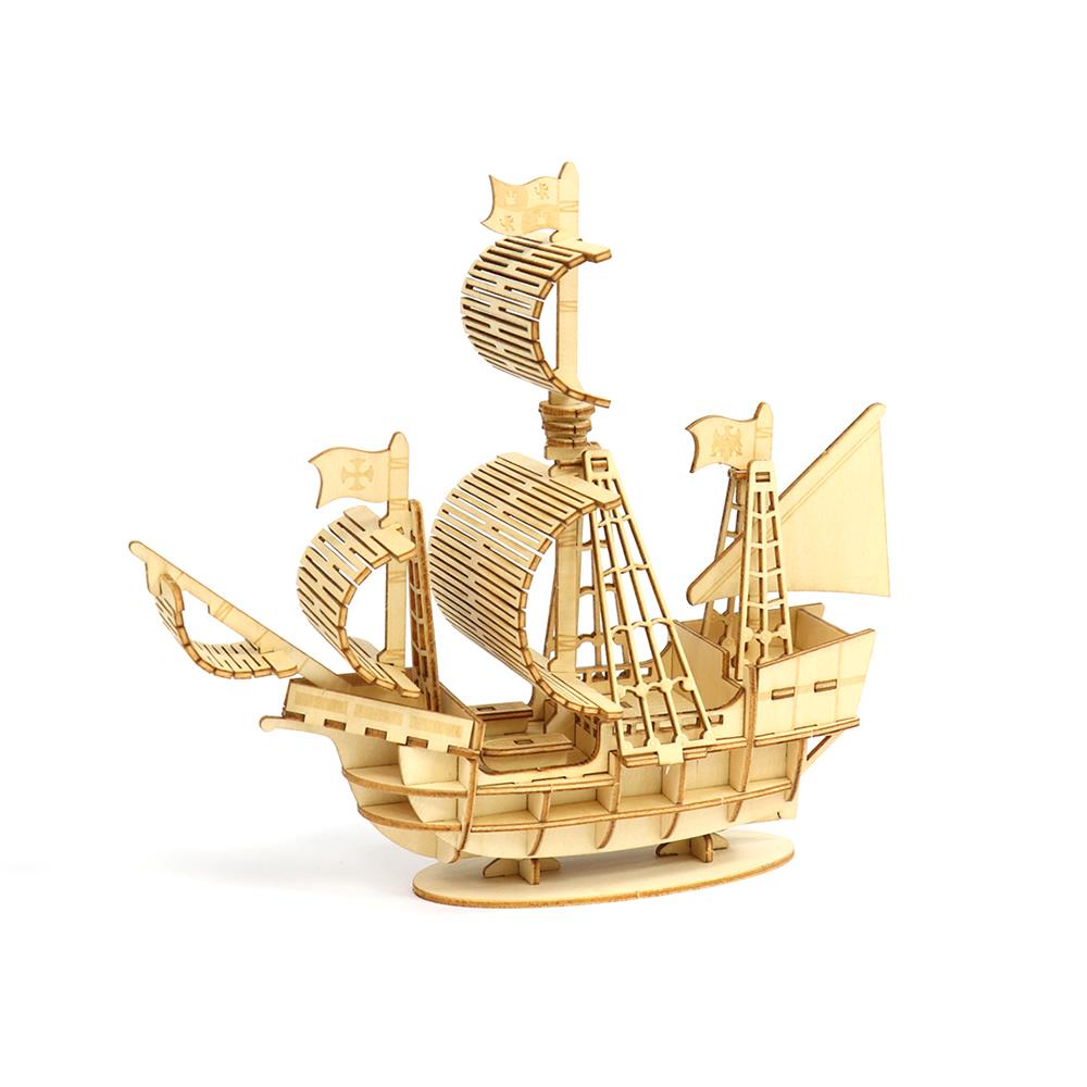 JIGZLE|3D木拼圖 帆船