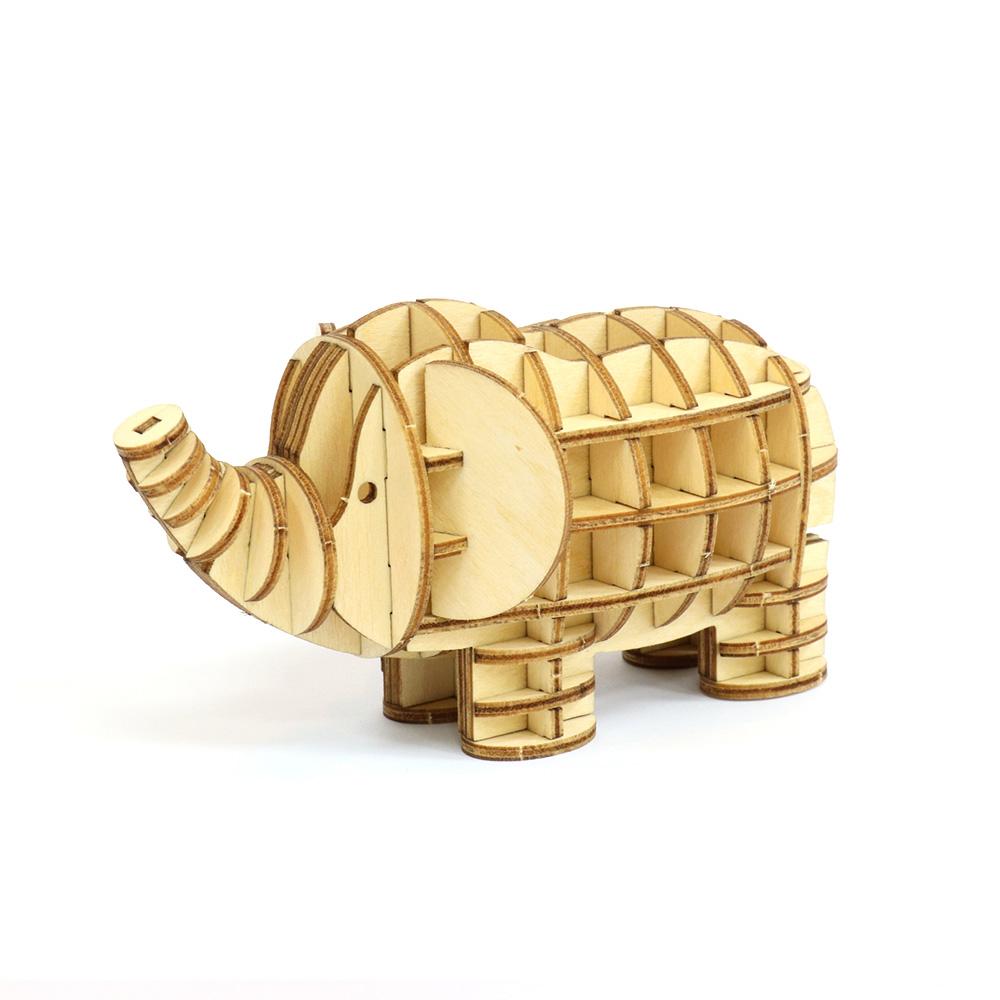 JIGZLE|3D木拼圖 大象