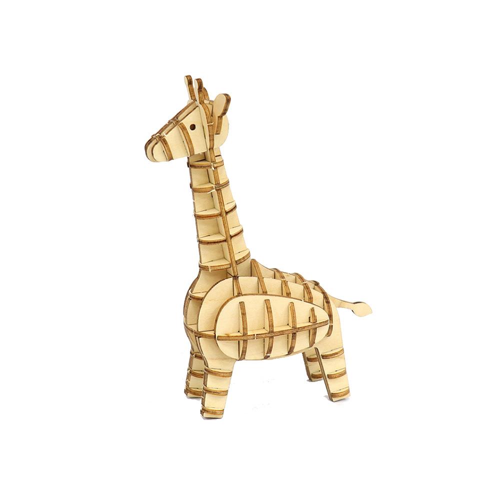 JIGZLE|3D木拼圖 長頸鹿