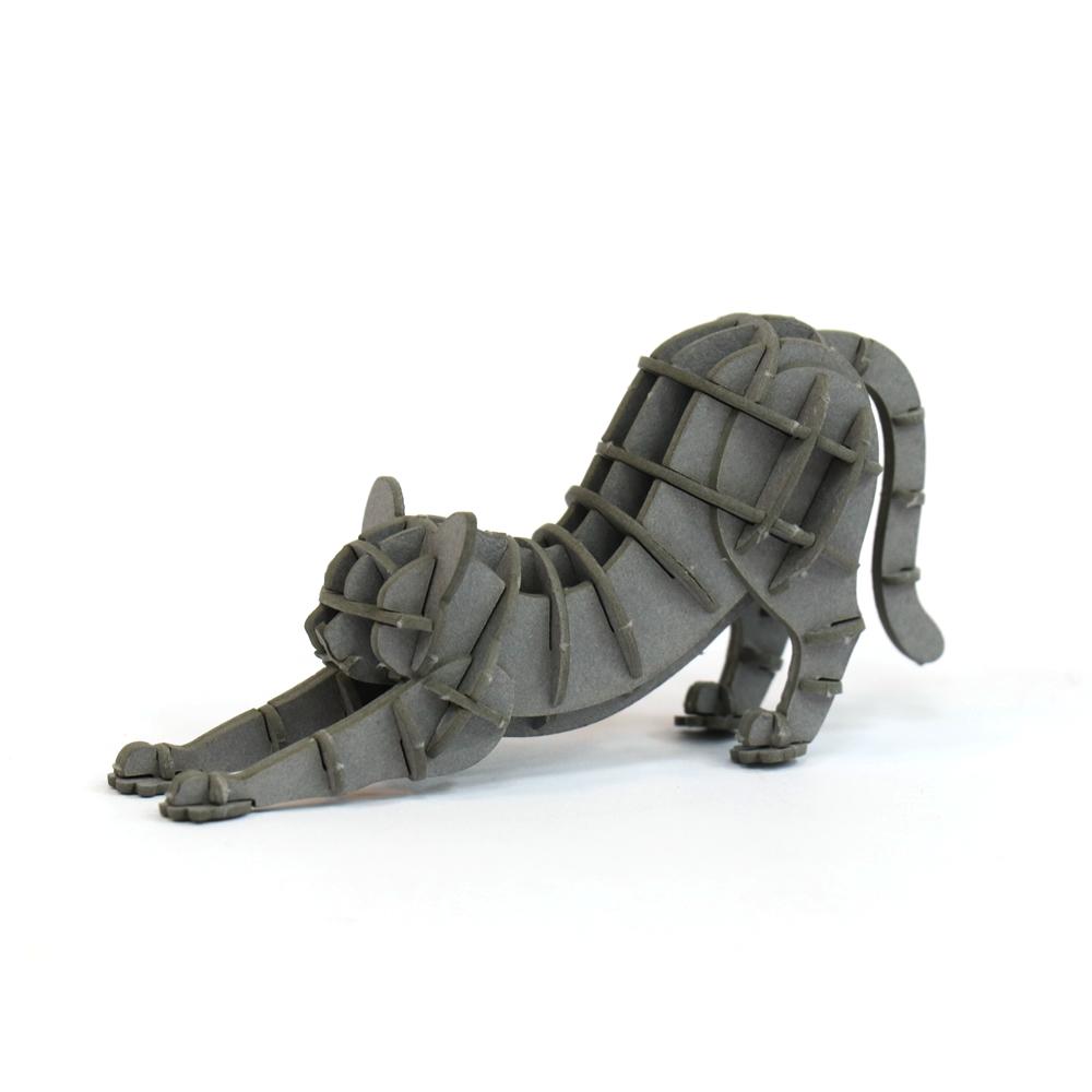JIGZLE|3D紙拼圖 伸展的貓