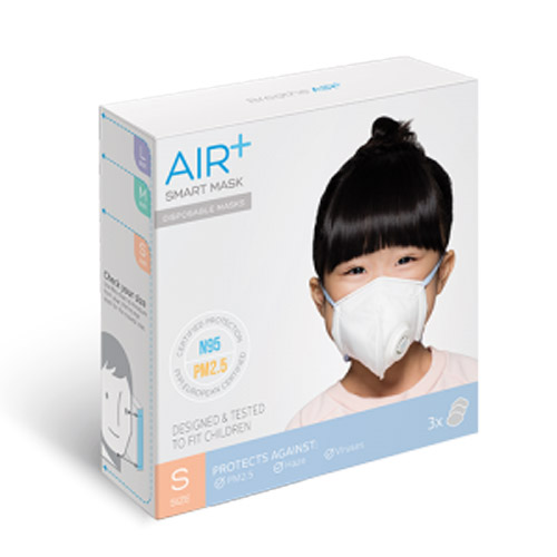 AIR+ | 氣益佳智慧型口罩1盒(3入)+1入組風扇